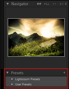 Adobe Lightroom Develop Presets