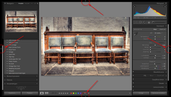 Adobe Lightroom Panelen