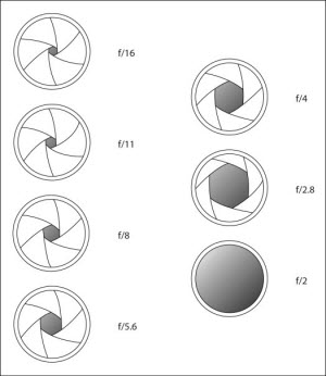 Scherptediepte DoF Diafragma F-stop F-getal