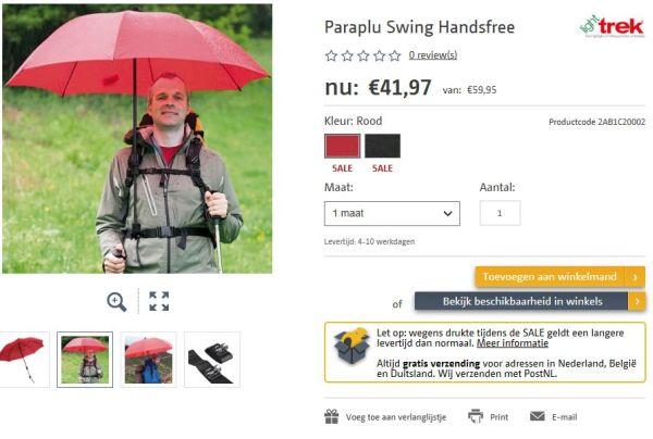 handsfree paraplu