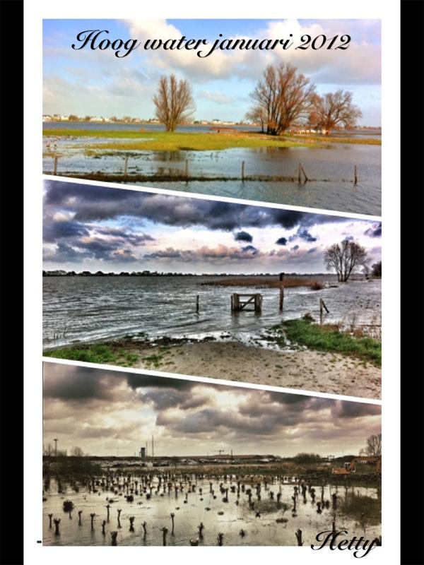 iPhonografie iPhone Foto van Hoog Water Werkendam 2012 Merwede