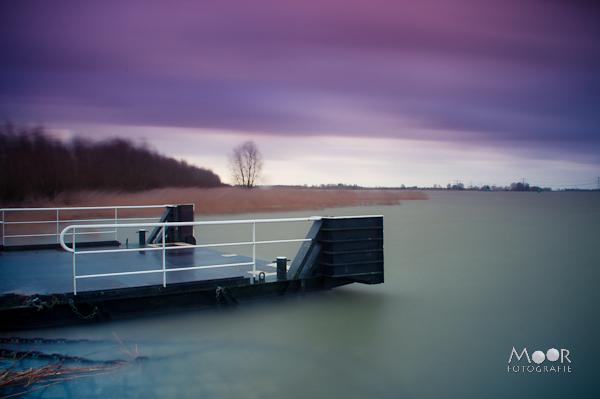 Wind en Water Lange Sluitertijd Rivier Merwede