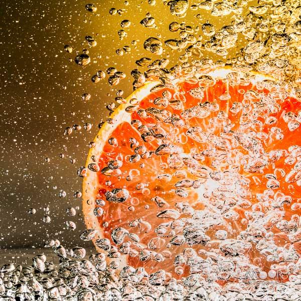 Woordloze Woensdag Bubbels Grapefruit Water Lucht Abstract