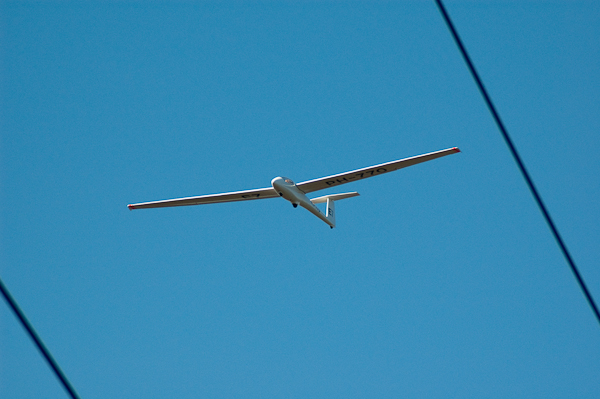 Woordloze Woensdag Zweven Vliegtuig Zweefvliegtuig Terlet Blauw Lucht