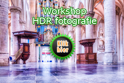 Workshop HDR High Dynamic Range fotografie Grote Kerk Breda